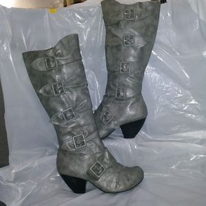 Mia Amore Tall Grey Boots